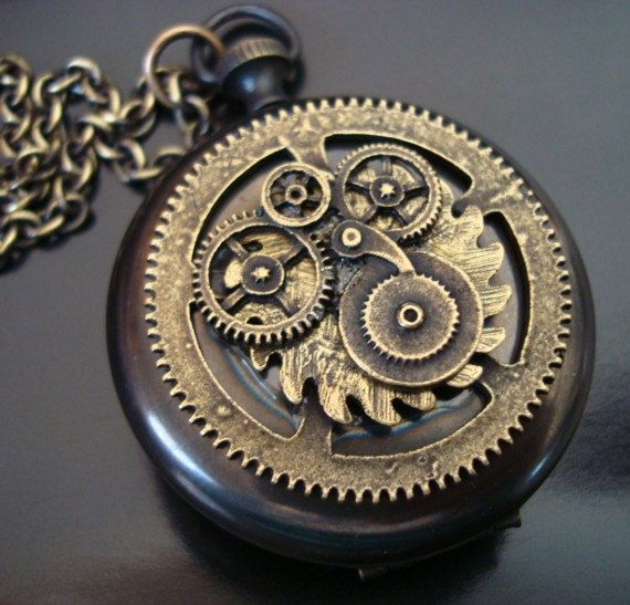 Gears clipart steampunk pocket watch Vintage Chain Quality Ox watch