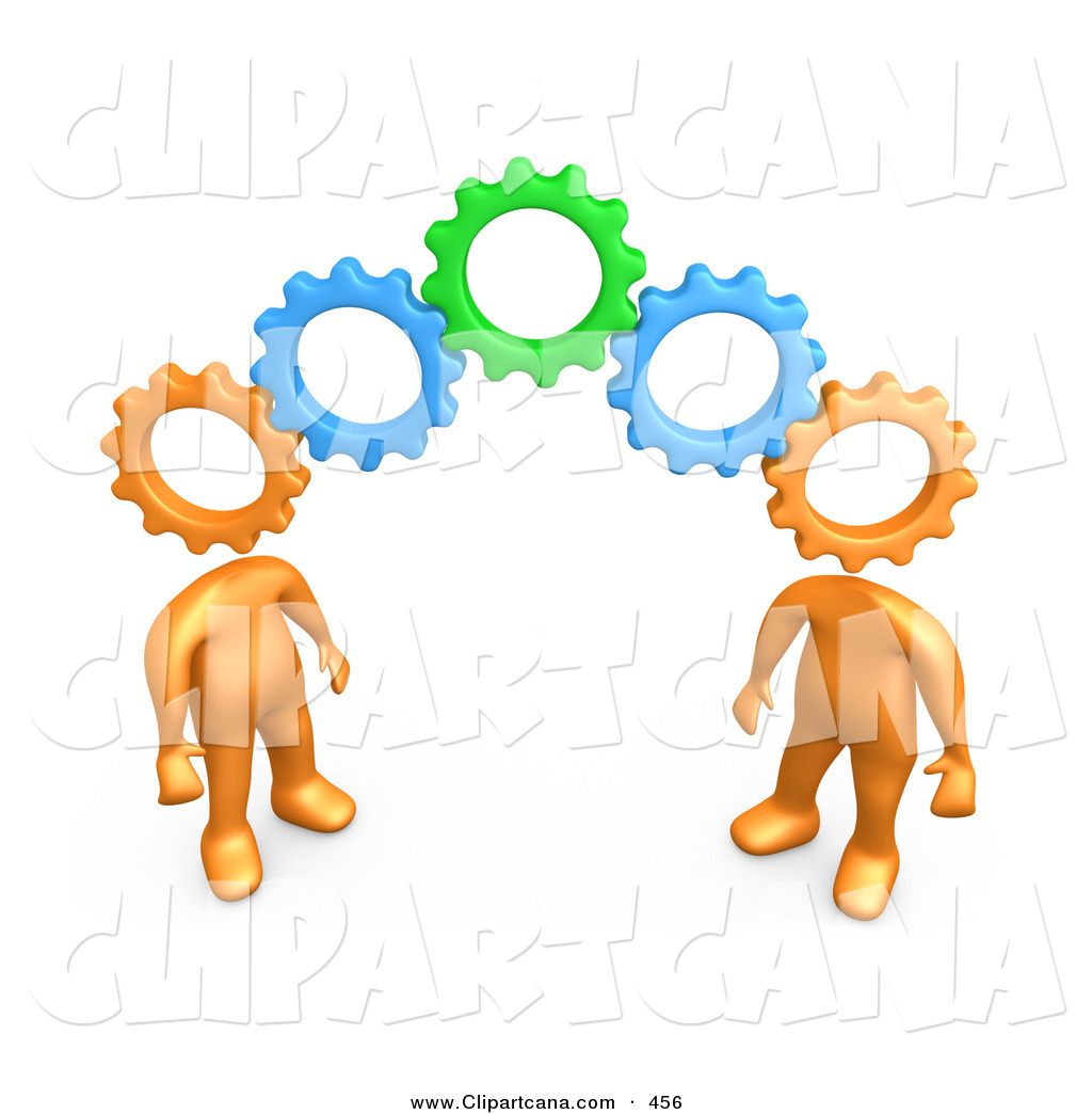 Brains clipart gear clipart Free Royalty Working on People