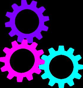 Gears clipart three Art vector com at free