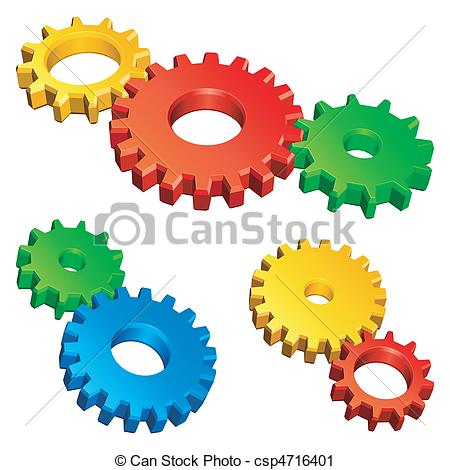 Gears clipart three Csp4716401 Three gears of