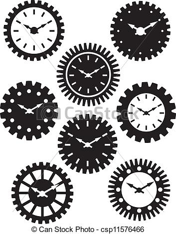 Gears clipart time clock Face Face in of csp11576466