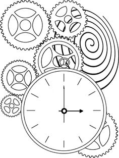 Gears clipart time clock Pages clock cogs DIY Page