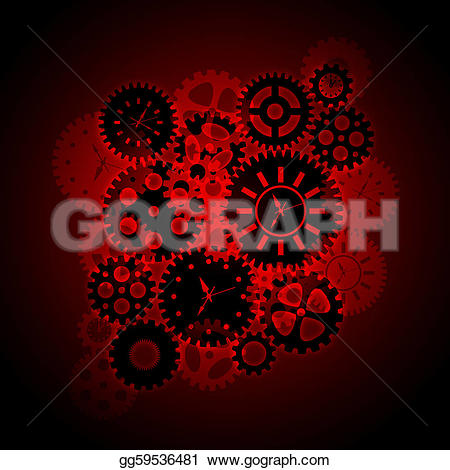 Gears clipart time clock Stock gg59536481 on clipart Clip
