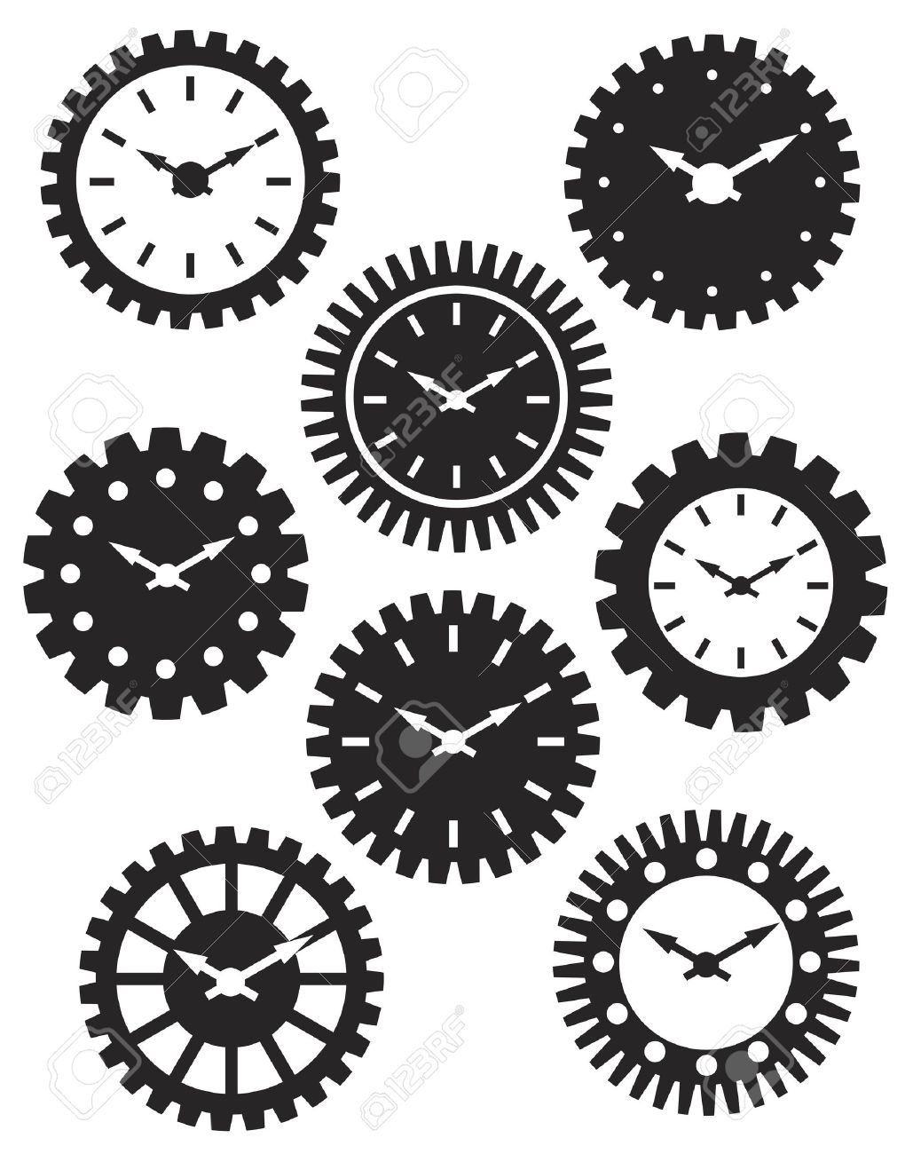Gears clipart time clock Time Clocks in Watch Mechanical