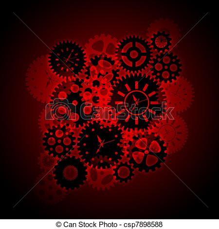 Gears clipart time clock Illustration Time Clock Illustration on