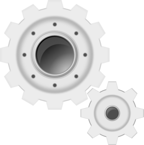Gears clipart transparent background Online Clip Gears Clker at