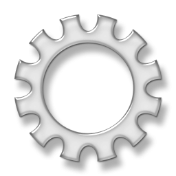 Gears clipart transparent background » Scalloped Large Icon Etc