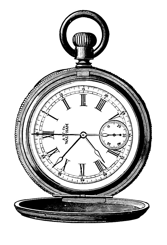 Watch clipart old fashioned Steampunk  Free Vintage Watch