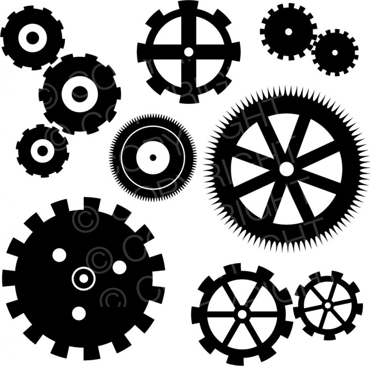 Gears clipart vintage steampunk Clip and Cogs Icon Steampunk