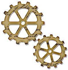 Gears clipart vintage steampunk GearsVictorian gear ClipArt Wheels and