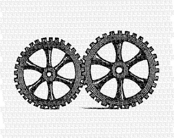 Gears clipart vintage steampunk Clip Gears Printable Quality High