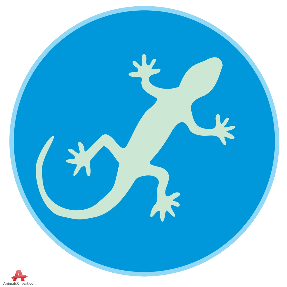 The Lizard Symbol Clipart Design