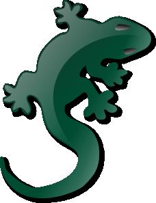 Gecko clipart yellow Clip Clker royalty Art com