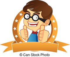 Geek clipart boy confused  Vector picture of a