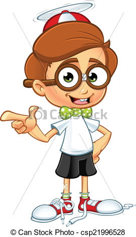 Geek clipart boy pointing Pointing Pointing Nerd Vector cartoon