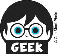 Geek clipart cartoon Geek of vector