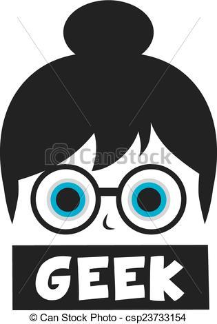 Geek clipart cartoon Geek of vector  Vector