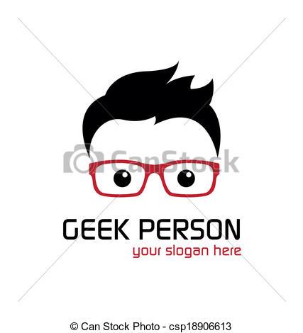Geek clipart cartoon person Csp18906613 Clip Geek  Vector