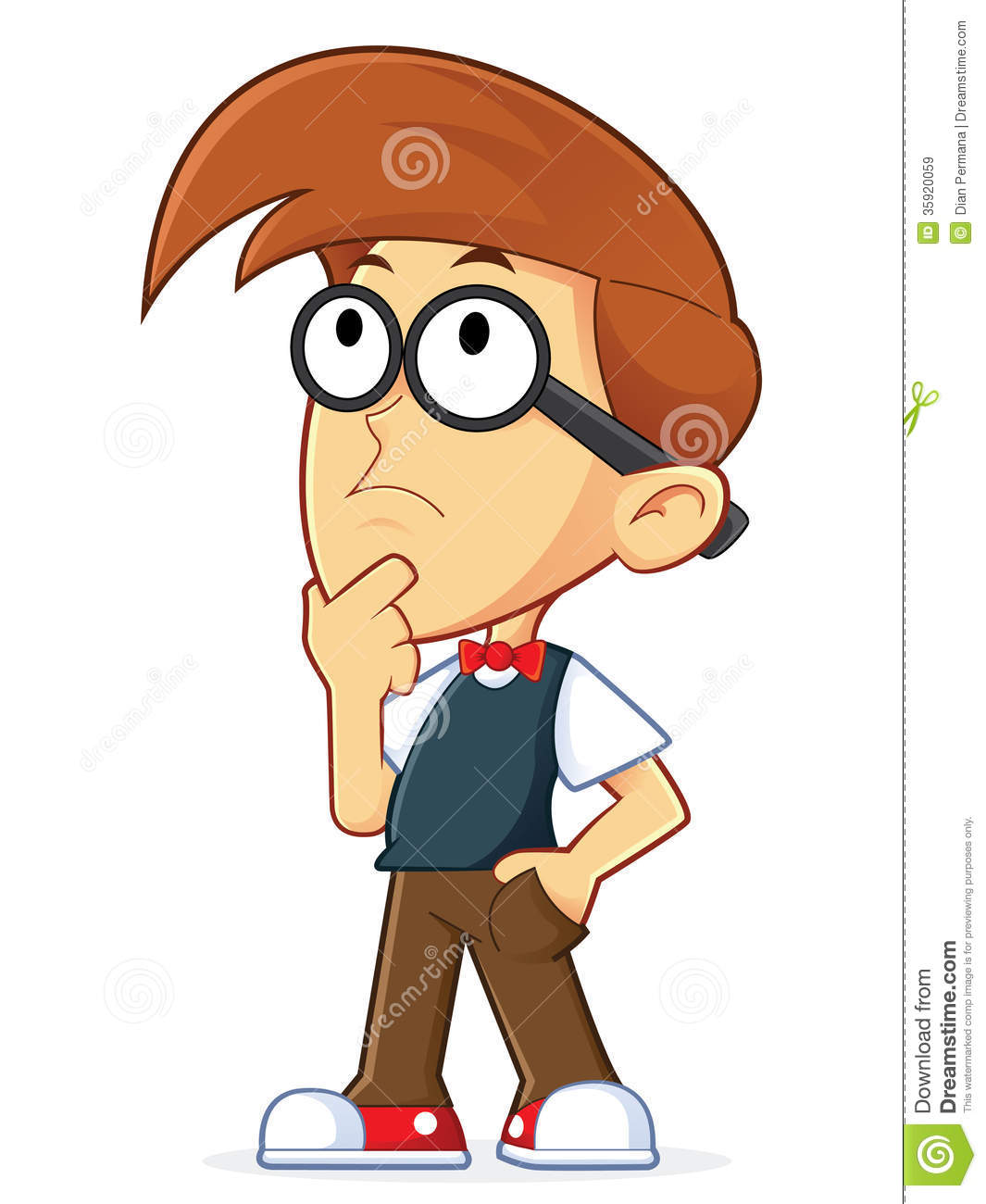 Geek clipart cartoon person Library Cartoon Art Thinking Images