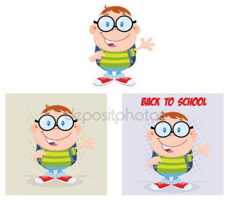Geek clipart chico Geek stock de Personaje #61110097