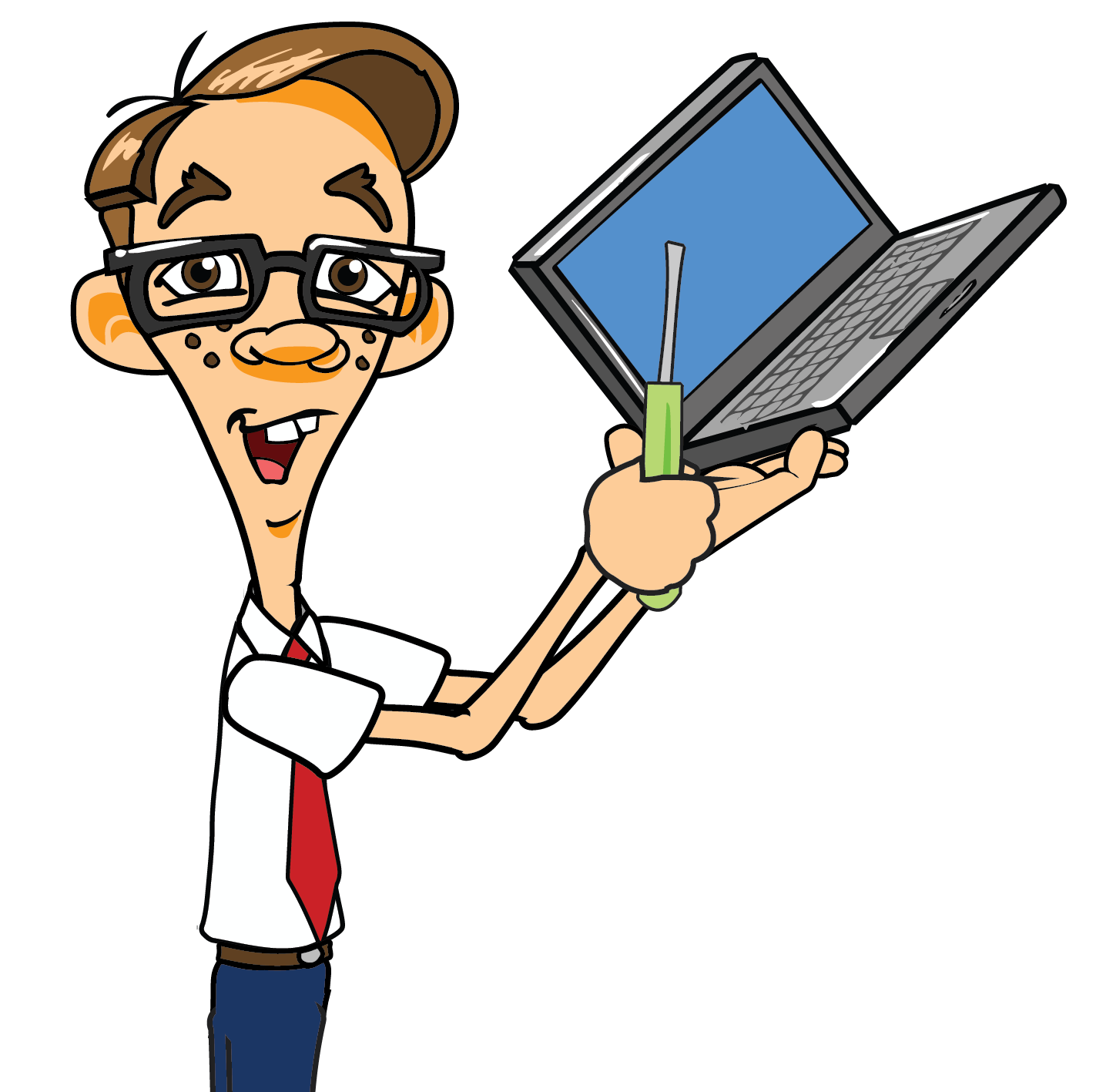 Geek clipart chico Laptop chico Repair
