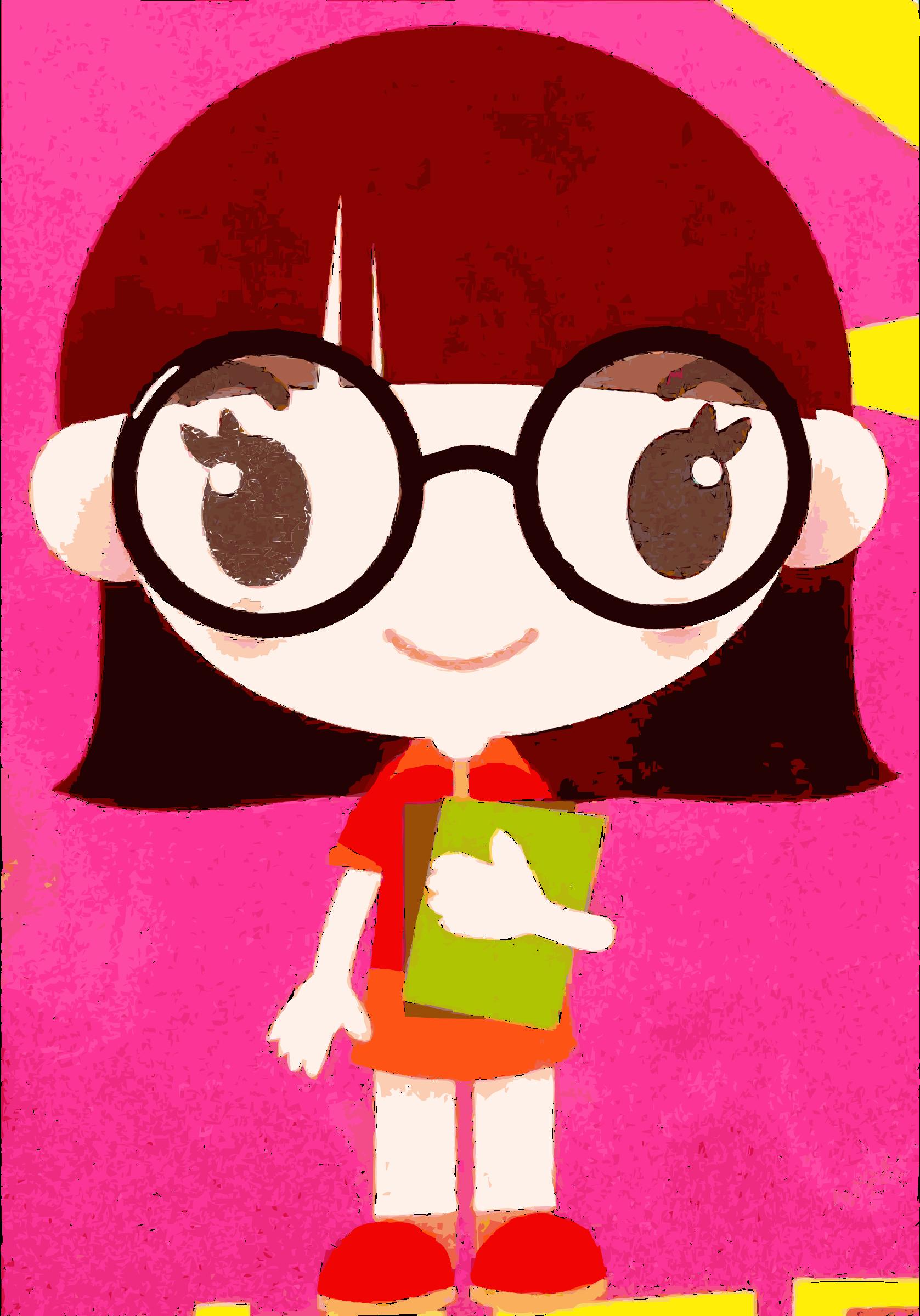 Geek clipart female nerd Vector Characters Nerdy 2017 Image