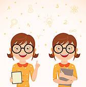 Geek clipart female nerd Girl girl Royalty collection Art