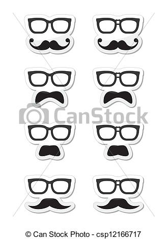 Hair clipart geek Or  or musta moustache