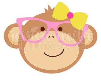 Crayon clipart face Art Monkey Etsy Geek Clipart