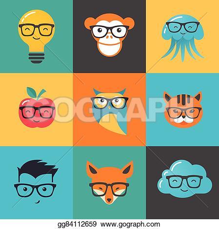 Hair clipart geek Smart Geek gg84112659 hipster smart