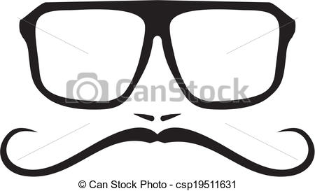 Geek clipart hipster glass Vector men Vector with hipster