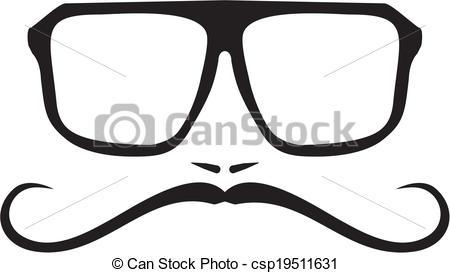 Geek clipart hipster glass Vectors Vector men Vector face