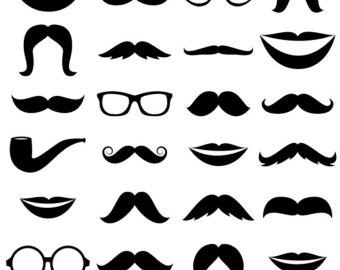 Geek clipart mustache glass Clipart Etsy Clip Clipart Clipart