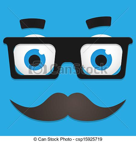 Geek clipart mustache glass Hipster of Vector Art Mustache
