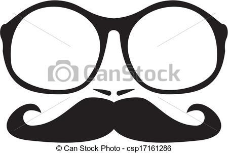 Geek clipart mustache glass Mustache and Vector Men nerd