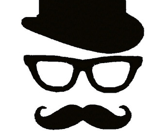 Geek clipart mustache glass Bowler File Mustache Digitized Machine
