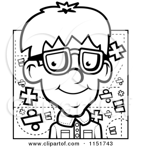 Geek clipart nerd boy And Math White Cute Clipart