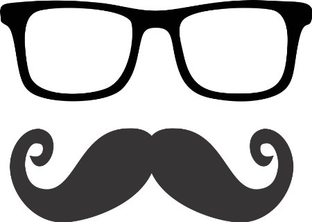 Spectacles clipart hipster glass Glasses glasses mustache  clipart