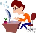 Geek clipart programming Page Royalty # Quick computer