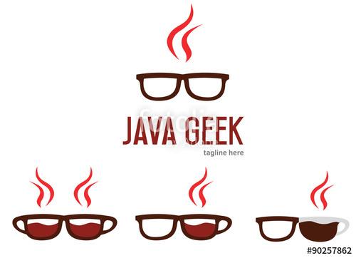 Geek clipart programming Design glasses Java Java logo