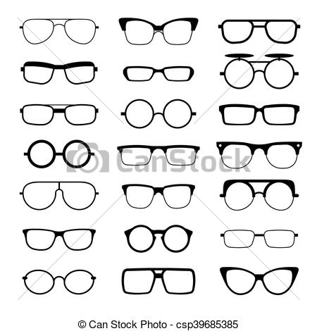 Geek clipart sunglass Icons model different Vector Sunglasses