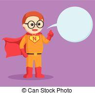 Geek clipart superhero Cartoon of nerd Vector