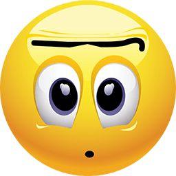Geek clipart surprised expression Shocked 25+ emoji Unibrow ideas