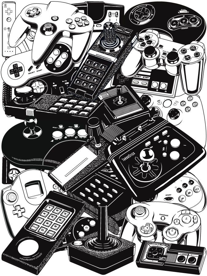 Geek clipart video game Controllers Joysticks Retrogaming Geek on