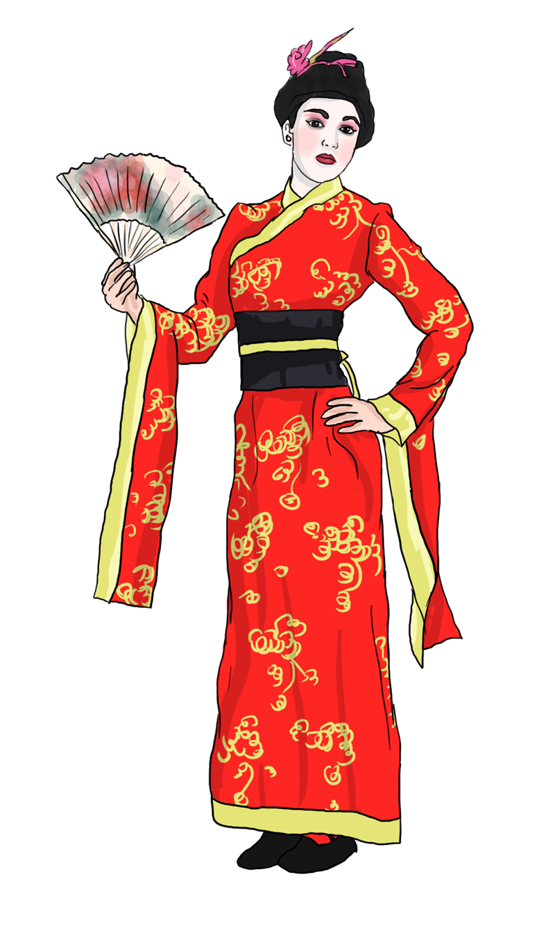 Folk clipart chinese dance Free · Geisha Domain to
