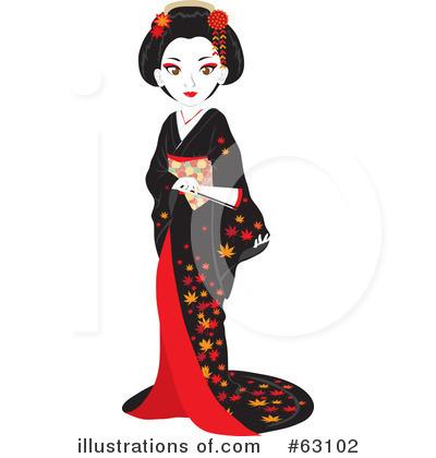 Geisha clipart vector Rosie Clipart by Geisha Royalty