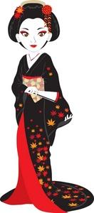 Geisha clipart vector Fan Geisha Fan Image Geisha