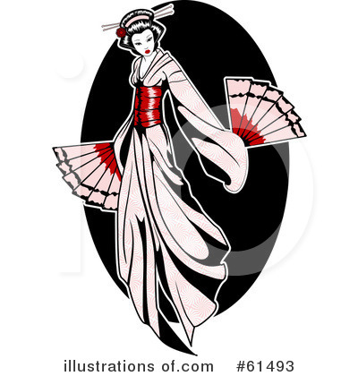 Geisha clipart vector R Clipart by Geisha Royalty