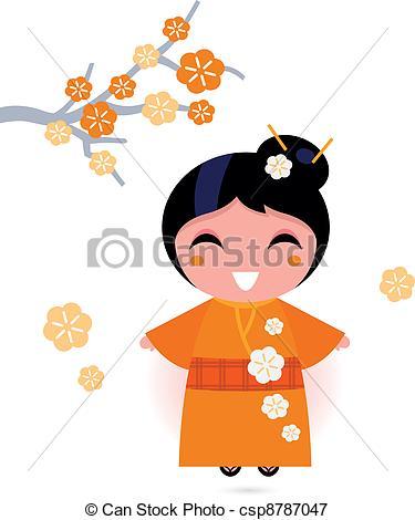Kimono clipart vector In on Vector vector white