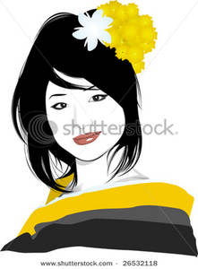 Traditional clipart geisha Geisha In Her with Image
